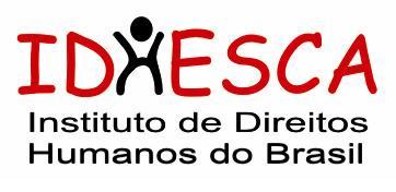 IDHESCA - Instituto de Direitos Humanos do Brasil - a letra H imita uma pessoa